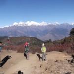 Vers Lauribinia, en fond les Ganesh... vallée du Langtang