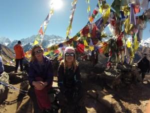 Face au Langtang Lirung ( Langtang, Népal) à 4300m