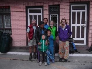 Famille Népalaise à Syabru Besi, Langtang