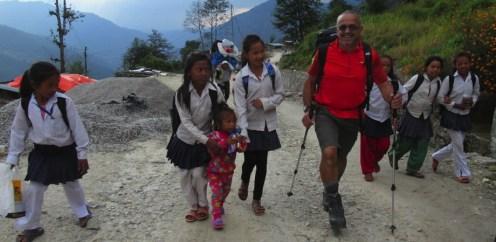 Népal, écoliers