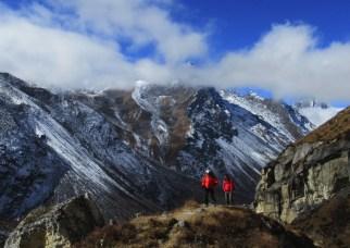Népal, Rolwaling, au fond Yalung Là