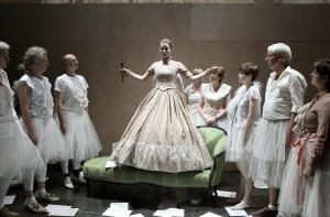 Das Stück Lessings Gespenster im Schauspiel Dortmund, inszeniert vom kainkollektiv. Foto: Birgit Hupfeld