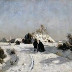 Otto Modersohn, Landschaft im Winter.(Foto: Museum Hagen)