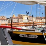 Auch auf Fischerbooten steht Sant Troupes.(Foto: hhp)
