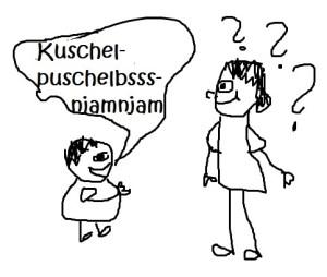 Kinder - die Meister der Worterfindungen! (Zeichnung: Albach)