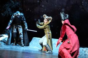 Showdown: Der Mondmann als Darth Vader. Foto: Birgit Hupfeld