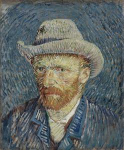 """Vincent van Gogh: Ein Selbstporträt mit grauem Filzhut von 1887. Das Bild gehört dem van Gogh Museum Amsterdam. Bis 6. September ist es in der Ausstellung """"Van Gogh + Munch"""" im Munch Museum Oslo zu sehen. Foto: Van Gogh Museum, Amsterdam (Vincent van Gogh Foundation)"""