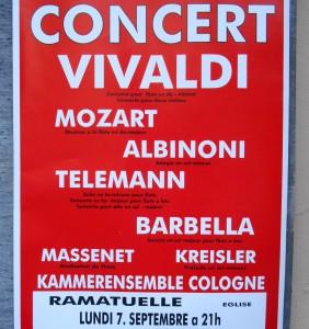 Konzert in der Dorfkirche für 20 Euro. (Foto: H.H.Pöpsel)