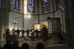 """Das Ensemble """"Vox Werdensis"""" bei seinem Konzert in der Kreuzkirche in Herne. Foto: Thomas Kost/WDR"""