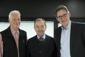 Die Festival-Macher seit 1976. Von links: Klaus L Neumann (ehemaliger künstlerischer Leiter), Joachim Hengelhaupt (Kulturdezernent a.D. und Festivalgründer), Richard Lorber (künstlerischer Leiter). Foto: Thomas Kost/WDR