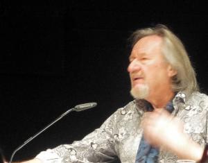 Klaus Theweleit bei seiner Lesung in Dortmund. (Foto: BB)