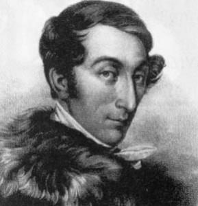 Carl Maria von Weber auf einer Darstellung des 19. Jahrhunderts.