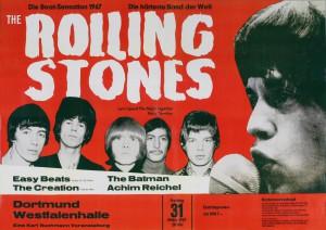 Plakat zum Auftritt der Rolling Stones in der Dortmunder Westfalenhalle, 1967 (Ruhr Museum)