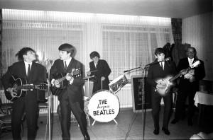 """In den frühen Jahren: Auftritt der Gruppe """"The Kepa Beatles"""" in Gelsenkirchen, 1964. (Foto: Herribert Konopka)"""