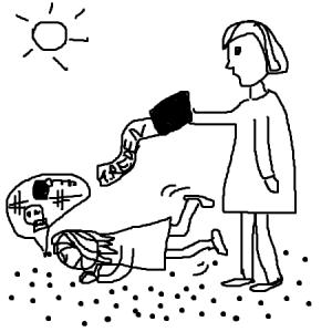 Heiß ersehnt: Die Lösungsmaschine für Situation, in denen Eltern Ratlosigkeit packt. (Bild: Albach)