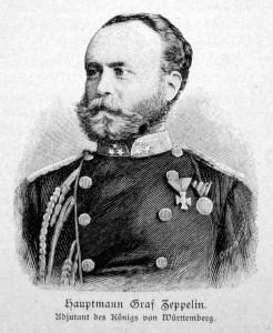Graf Zeppelin als Hauptmann und Adjudant des Königs von Württemberg auf einer Abbildung um 1870.