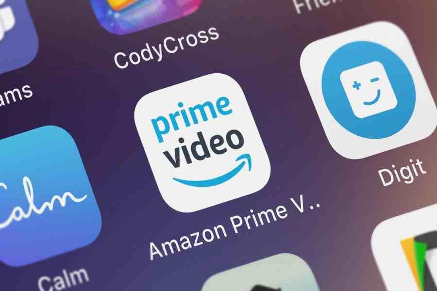 Logo do app Prime Video.