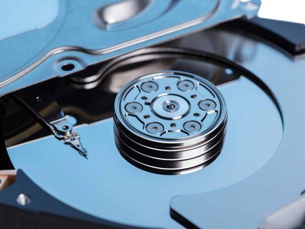 Particolare di un hard disk interno