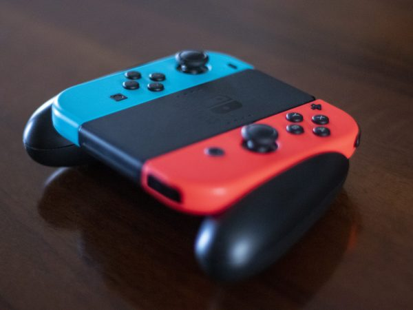 Primo piano sul pad del nintendo switch