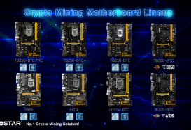 Biostar Provides Full Mining Solution for Maximum of 12-GPU Systems on Windows 10