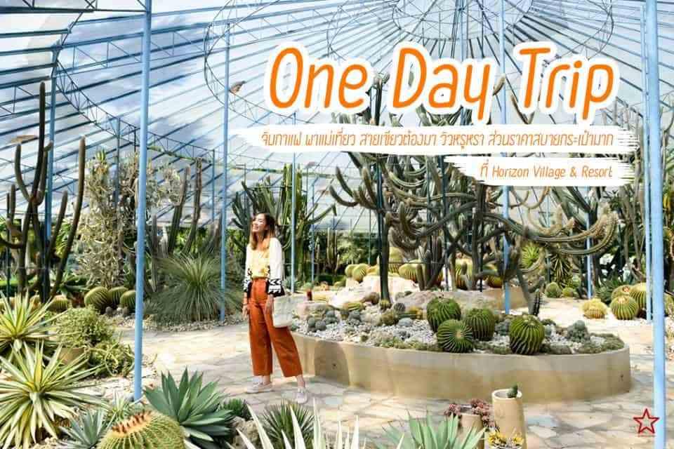 One Day Trip จิบกาแฟ พาแม่เที่ยว ที่ Horizon Village & Resort (สวนพฤกษศาสตร์ทวีชล)