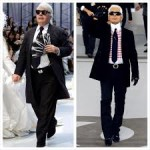 before and after Karl lagerfield