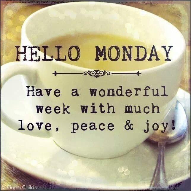 Wishing Everyone A Good  Monday !