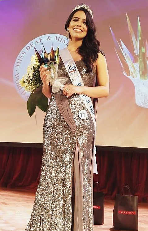 Indian Girl  Crowned Miss Deaf Asia 2018