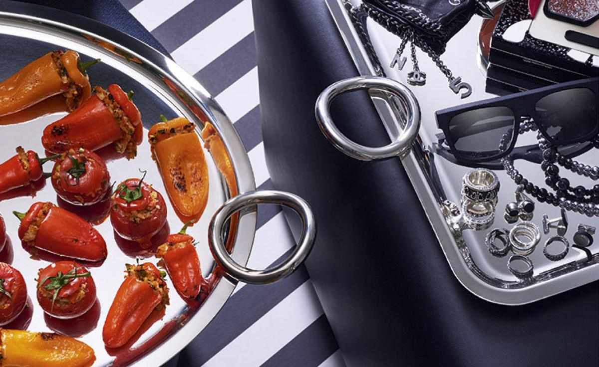 Karl Lagerfeld's  Stuffed Peppers And Tomatoes