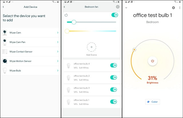 The Wyze app makes it easy to set up and manage the Bulbs. It also interfaces with Google and Amazon.