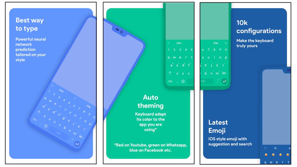 Ứng dụng bàn phím Android miễn phí Chrooma có thể thay đổi màu chủ đề để phù hợp với ứng dụng bạn đang sử dụng