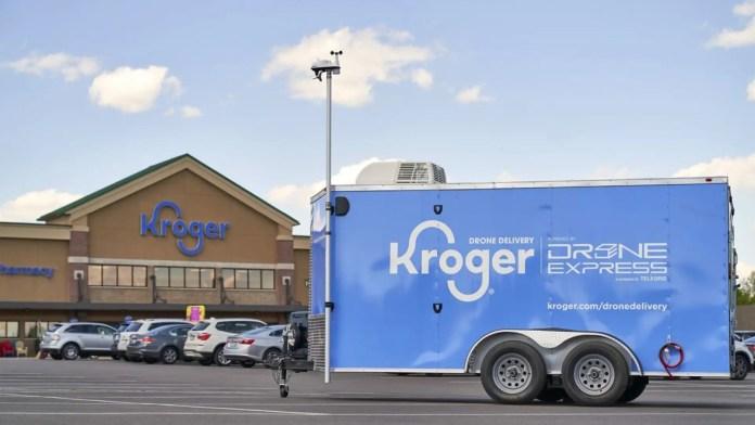 Kroger drone delivery pilot trailer