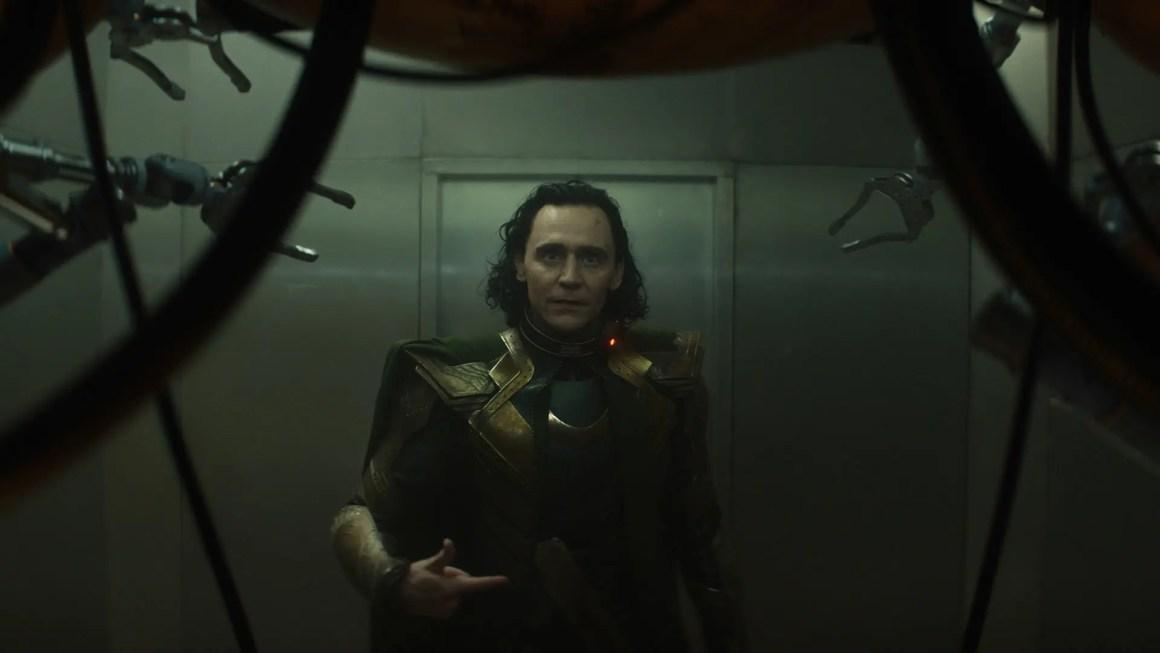 Loki looking confused by machinery.