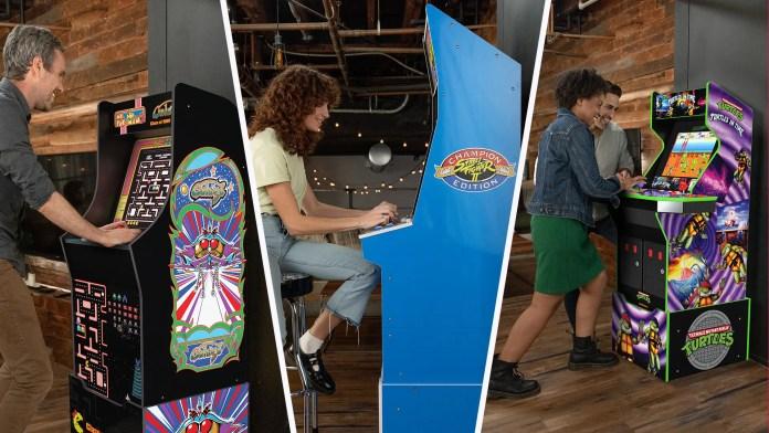 Three arcade machines from Arcade1Up