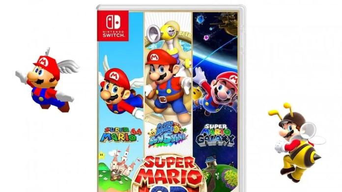 A photo of the 'Super Mario 3D All-Stars' box art.