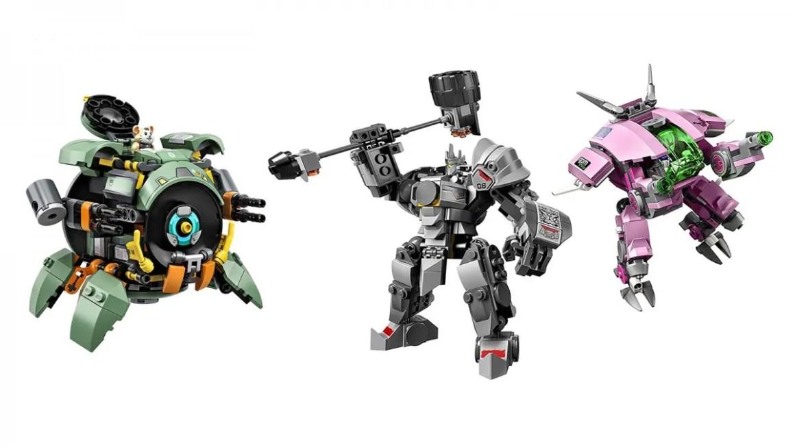Наборы LEGO Overwatch D.Va/Reinhardt и Wrecking Ball
