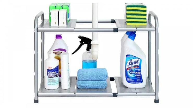 The Simple Houseware 2-tier adjustable shelf.