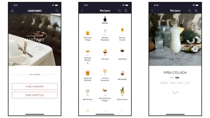 The Liquor Cabinet app screenshots