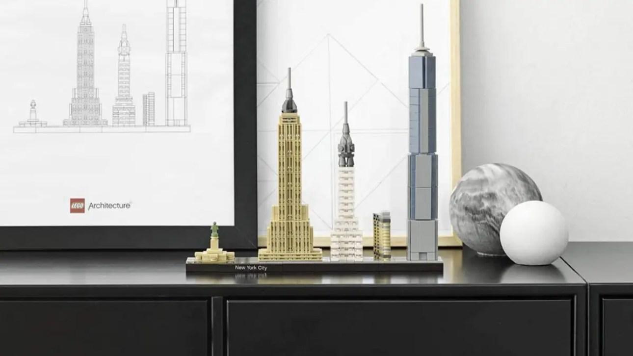 LEGO Архитектура Нью-Йорк Сити Горизонт