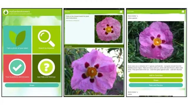 Garden Answers app screenshots