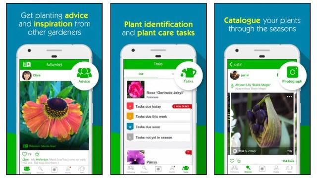 Garden Tags app screenshots