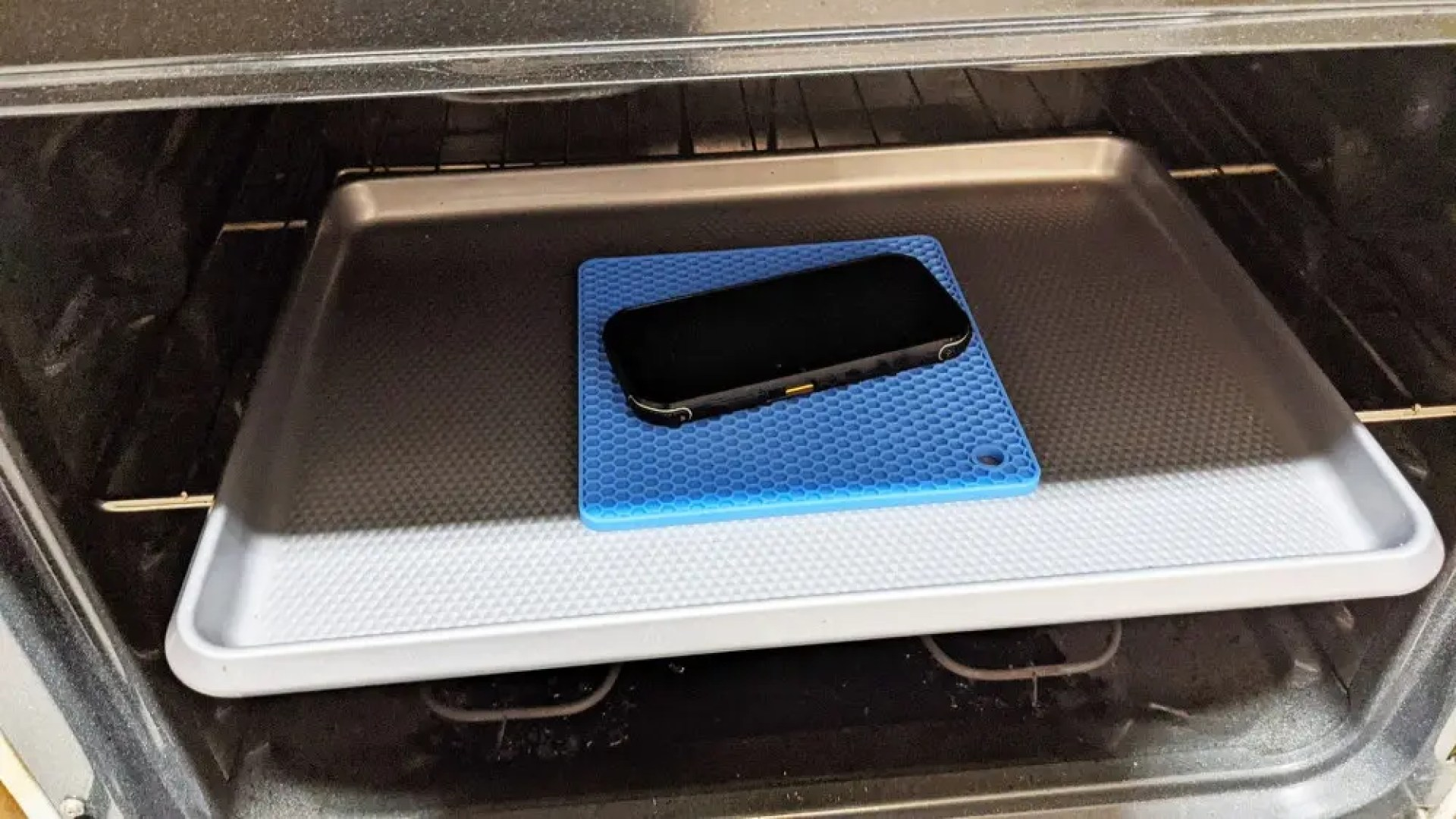 CAT S42 in the oven