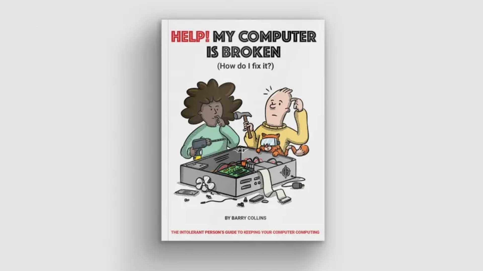 A photo of the 'Help! My Computer Is Broken' dust cover.