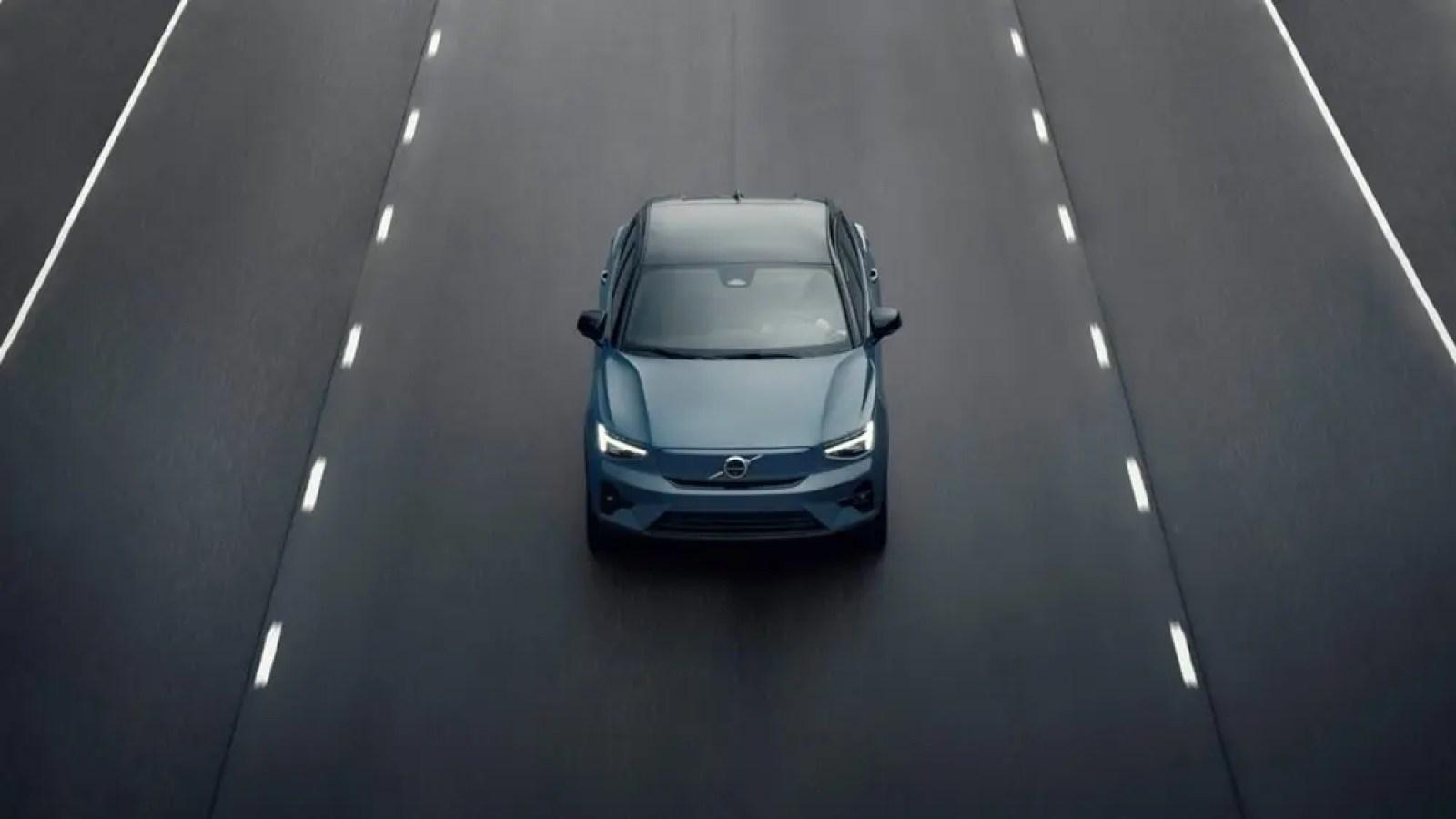 The Volvo C40 electric vehicle.