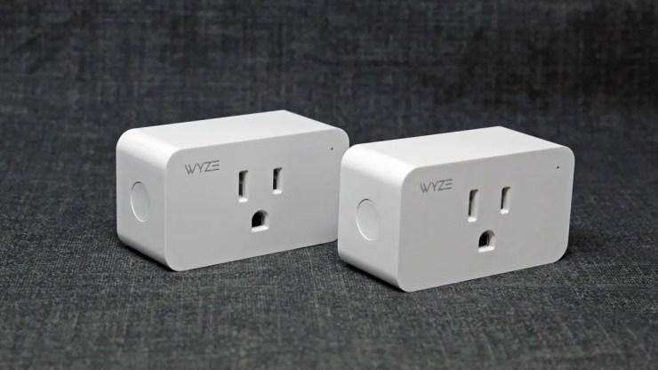 Two Wyze smart plugs.
