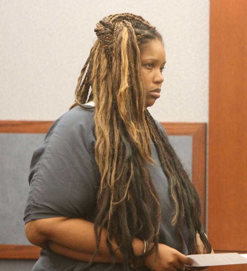 Stepmother Latoya Williams-Miley, charged with Aaron's murder, appeared in court at the Regiona ...