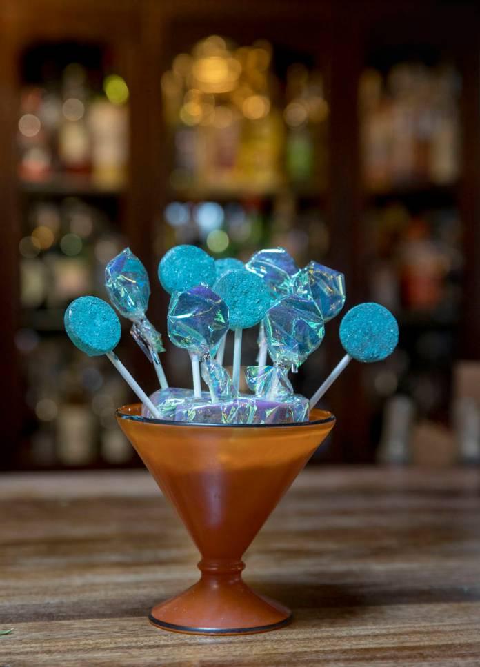 Electrapop lollipops' flavor enhancer puts your taste buds on overdrive. (L.E. Baskow)
