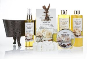 Pinkleaf Nature Spa Vanilla, Argan Oil, Bath Gift Set