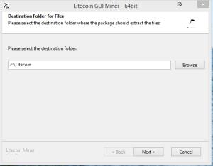 Litecoin GUI installer
