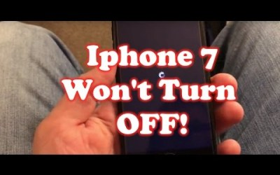 My Iphone 7 will not Turn off! FIXED!